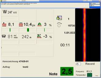 HKS ThermoProfilScanner Interface