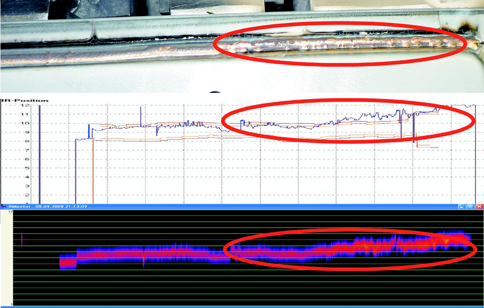 HKS ThermoProfilScanner Fehleranalyse Bindefehler groß