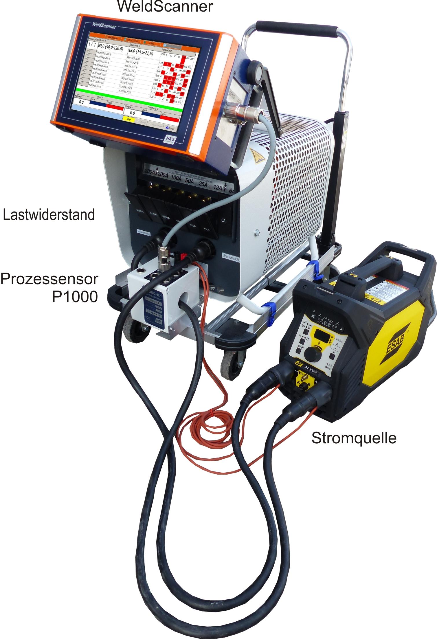 HKS WeldScanner Kalibrierschein